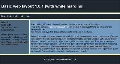 Basic web layout 1.0.1