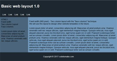 Basic web layout 1.0