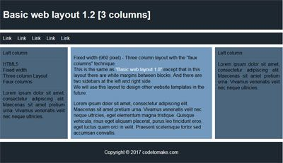 Basic web layout 1.2