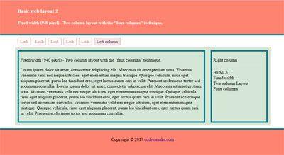 Basic web layout 2