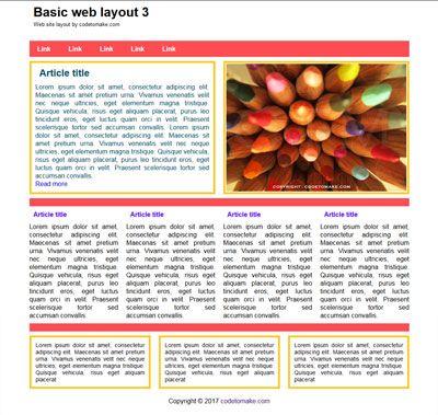 Basic web layout 3