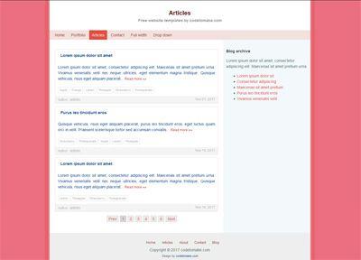 Simple Website Template 1